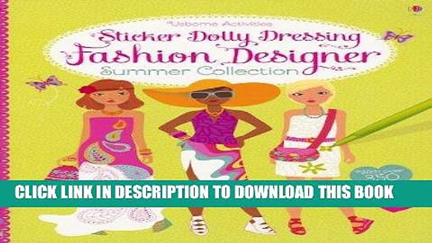 Ebook Sticker Dolly Dressing Fashion Designer Summer Collection Free Read Video Dailymotion