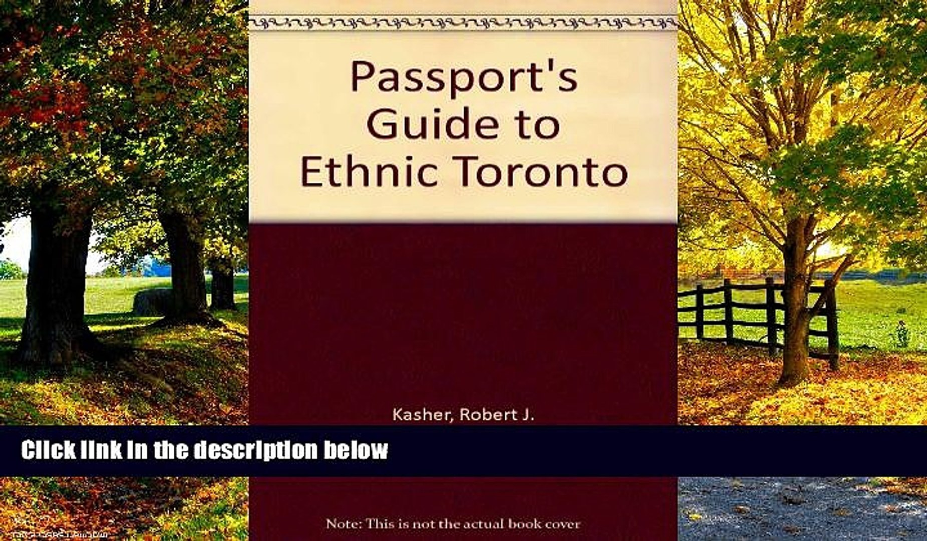 Best Buy Deals  Passport s Guide to Ethnic Toronto: Complete Guide to the Many Faces   Cultures