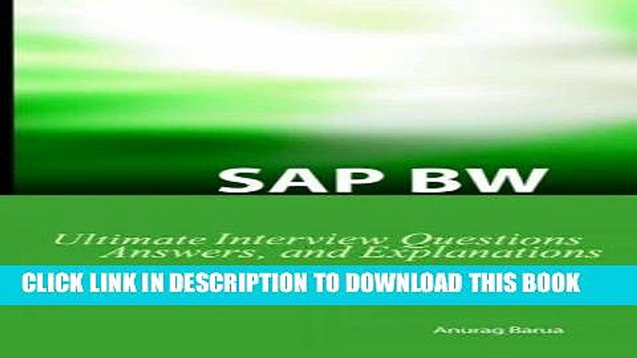 [PDF] Mobi SAP BW Ultimate Interview Questions, Answers, and Explanations:  SAP BW Certification