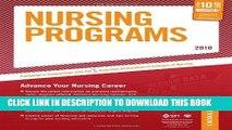Read Now Nursing Programs - 2010: Advance Your Nursing Career (Peterson s Nursing Programs)