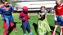 Frozen Elsa Spiderman Sumo Battle Superman Wonder Woman Joker Pink Spidergirl Superhero Sumo Suits