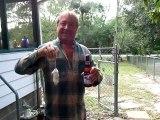 Il décapsule sa bière en utilisant son aigle... La classe!