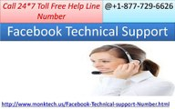 Dial on Facebook Technical Support 1-877-729-6626 to keep facebook secure