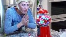 SuperHero Frozen Elsa VS Poison Bubble Gum Challenge Superhero Fun in Real life Queen Elsa Bubble