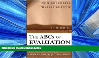 Read The ABCs of Evaluation: Timeless Techniques for Program and Project Managers FreeBest Ebook