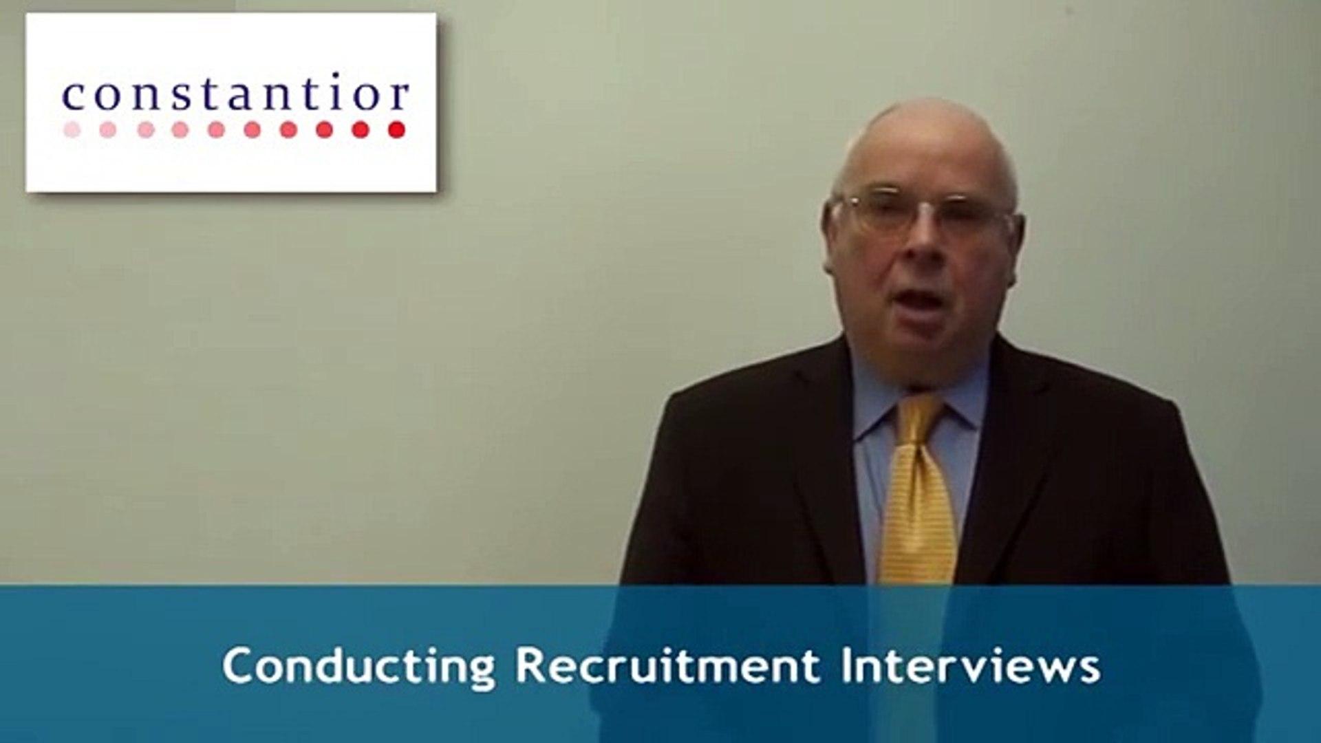 Conducting Recruitment Interviews