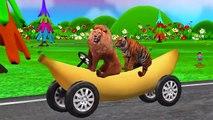 Funny Little Boy With Dinosaur King Kong Animals On Banana Train Singing Children Nursery Rhymes