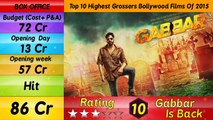 Top 10  Bollywood Movies - Highest Grossing Box Office Collection  in India  2015/2016