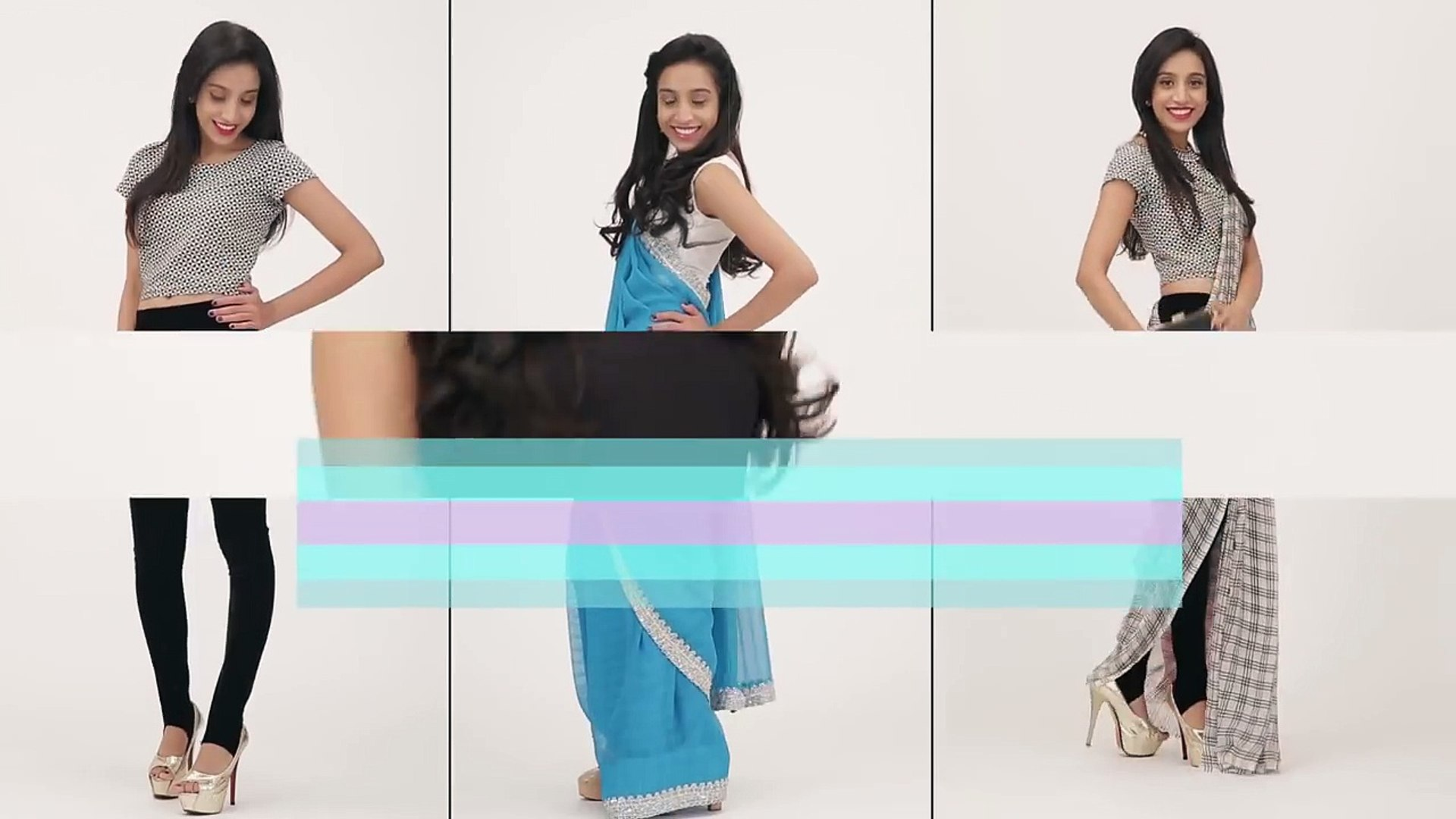 How To Wear A Saree Pant Style