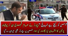 A Dawn News Reporter Taking Test of City Patrol Police in Peshawer