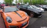 super cars show porsche ferrari lamborghini audi r8 acceleration loud sound exhaust