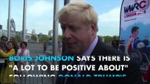 Boris Johnson is 'positive' about Donald Trump victory