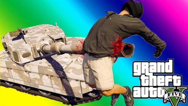 VanossGaming GTA 5 Online Funny Moments - Wildcat Poop, Tank Launch Glitch, Deep Snow!