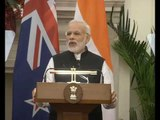 PM Modi & Prime Minister of New Zealand Mr John Key at Joint Press Statements with PMO India