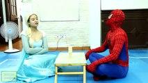 Fat Superman vs Elsa & Spiderman - DBZ Parody - Superman Kamehameha - In Real Life IRL Goku Vegeta