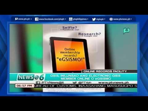 [News@6] GSIS inilunsad ang Electronic GSIS Member online o eGSISmo [06|1|16]