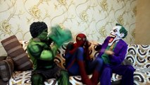 Spiderman Ghost vs Joker & Hulk - Spider-Man Pranked by Fake Ghost! Superheroes ghost In Real Life