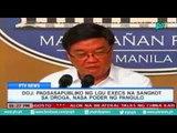 [PTVNews-1pm] DOJ: pagsasapubliko ng LGU execs na sangkot sa droga, nasa poder ng pangulo [07|19|16]