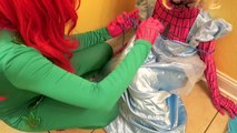 Is Poison Ivy Kissing Prince Charming Spiderman vs Frozen Elsa Joker Poison Ivy Disney Princess