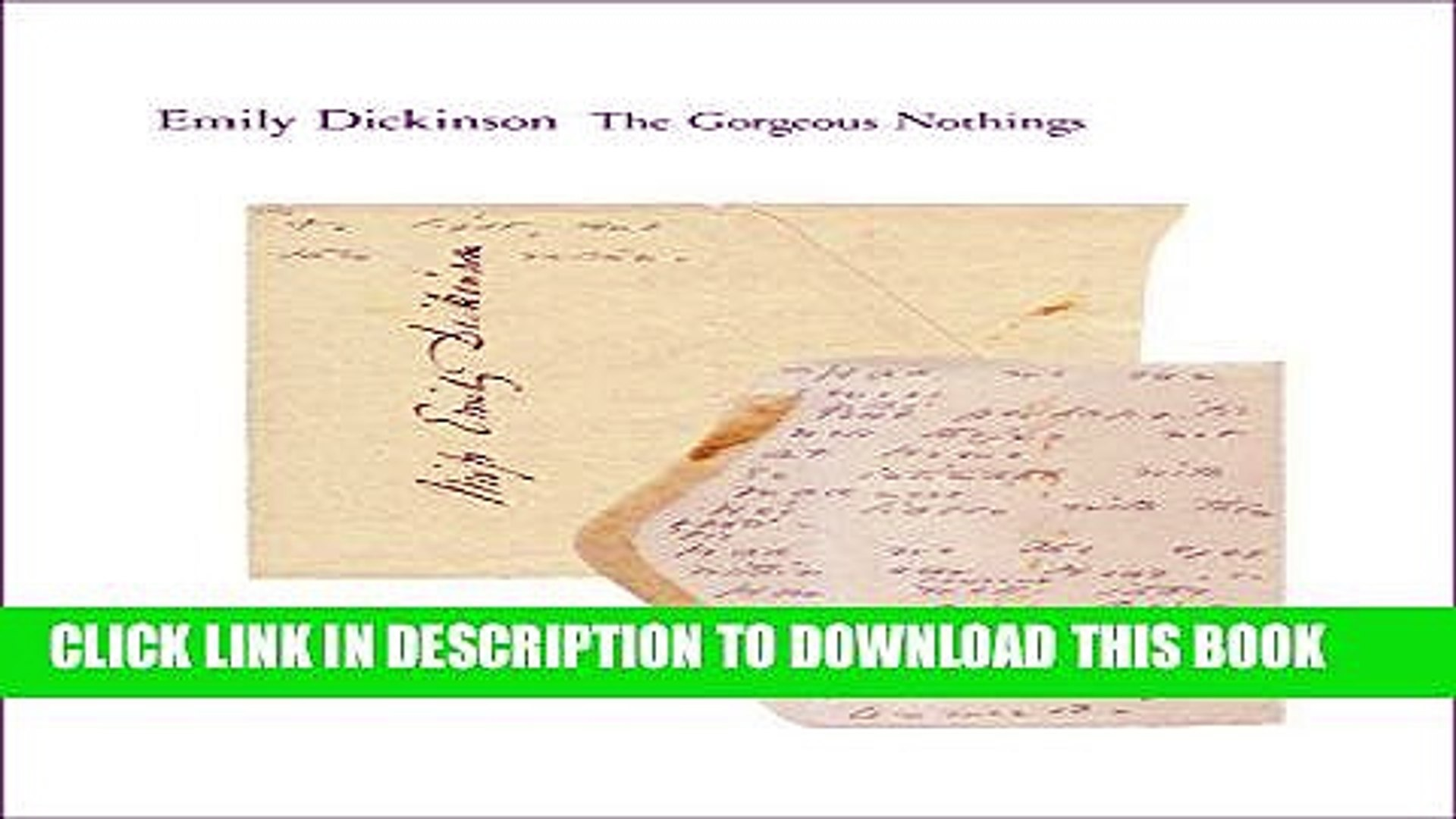 Pdf Epub The Gorgeous Nothings Emily Dickinson S Envelope Poems Full Online