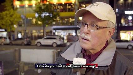 HOW PEOPLE FEEL ABOUT TRUMP WINNING -- STREET INTERVIEWS
