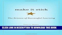 Ebook Make It Stick: The Science of Successful Learning Free Read