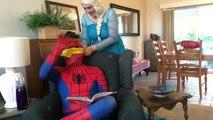 Dog Walks Spiderman Puppy vs Joker Button Prank Fun Superhero Kids In Real Life In 4K