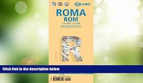 Big Sales  Laminated Rome City Streets Map by Borch (English, Spanish, French, Italian and German