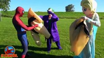 SPIDERMAN vs Frozen Elsa SUMO BATTLE SUMO Spiderman vs SUMO Joker Funny Superhereo Video Spiderman
