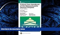 Download Critical Care Handbook of the Massachusetts General Hospital: Formerly known as