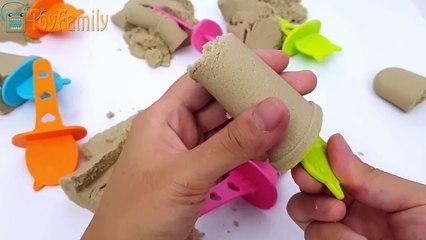 DIY Kineticsand Ice Cream in Summer Magicsand Play Ice Mold Slime