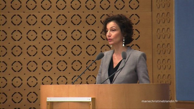 Colloque droits culturels: Audrey Azoulay