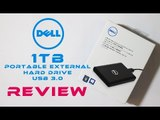 Dell 1TB Portable External Hard Drive USB 3.0 | Riview | Unboxing