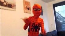 Superhero Nursery Rhyme Farmer in the Dell w/ Frozen Elsa Anna & Spiderman Joker Super heroes fun