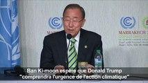 Ban espère que Trump «comprendra l'urgence» climatique