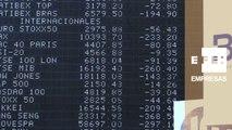 El Ibex 35 sube un 0,43% a mediodía pero no recupera los 8.700 puntos