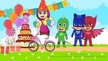 Masha And The Bear Birthday with PJ Masks Owlette Gekko and Catboy parody - YouTube