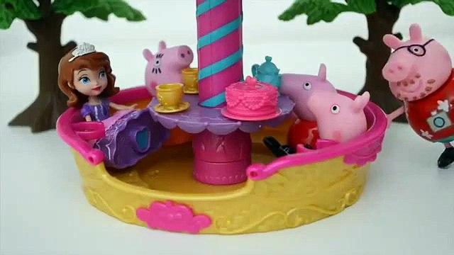 Pig George Da Familia Peppa Pig no Balao da Princesa Sofia!!! Em Portugues Tototoykids