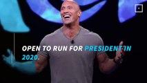 Is Dwayne 'The Rock' Johnson running for president in 2020?
