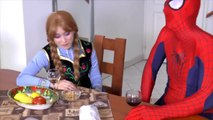 superheroes in real life superhero fights superhero battles spiderman and frozen elsa anna in real l