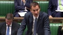 Hunt: Despite financial pressure NHS funding has increased