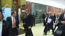 Pence arrives at Trump Tower for transition talks