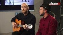 Claudio Capéo chante en live au Parisien