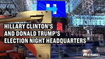 Hillary Clinton, Donald Trump election night headquarters are less than two miles apart