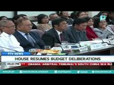 House resumes budget deliberations