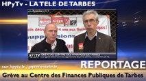 HPyTv Tarbes | Le centre des impôts de Tarbes en grève (15 novembre 2016)