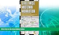 Deals in Books  Streetwise Midtown Manhattan Map - Laminated City Street Map of Midtown Manhattan,