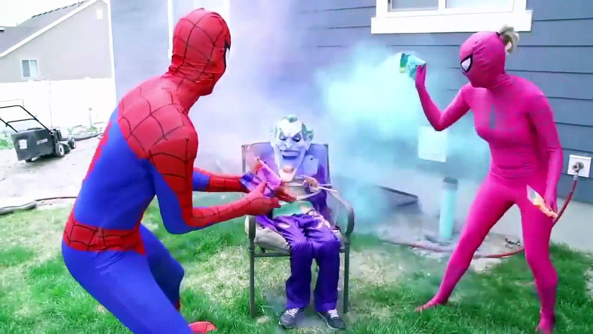 человек паук и эльза и анна и супергерои! танцы человек паук мультфильм на русском язык
