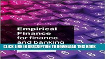 [PDF] Empirical Finance for Finance and Banking Popular Online