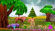 Lion Cartoon Dancing And Singing Rain Rain Go Away Nursery Rhymes For Children